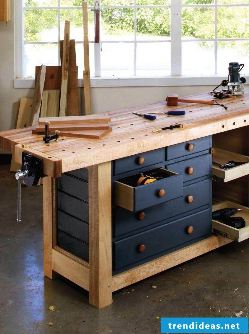 Set up your own garage workshop - build your own workbench