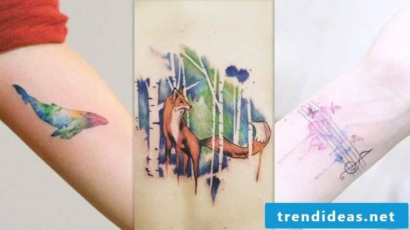Tattoo Oldenburg watercolors