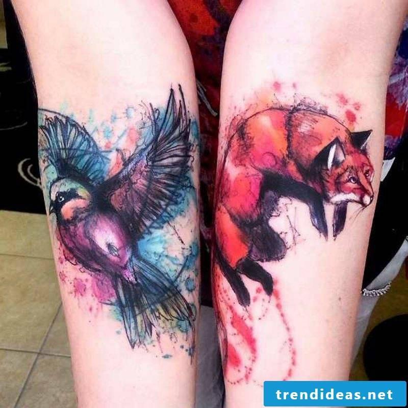 Watercolor Tattoo 2 Design Ideas