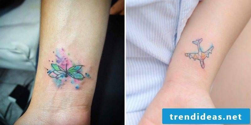 Watercolor tattoo small decent great design