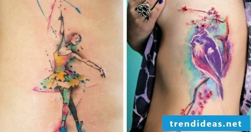 Watercolor Tattoo 2 great design ideas