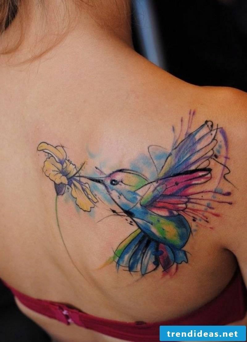 Tattoo Oldenburg Hummingbird watercolor