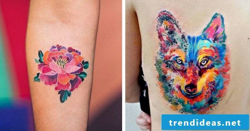 get a watercolor tattoo engraved 2 ideas