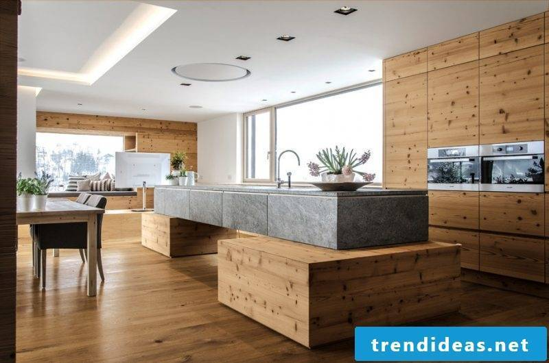 wooden wall covering kitchen