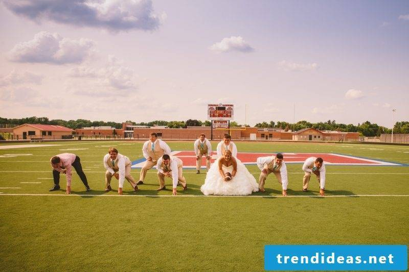 Wedding pictures idea with sport