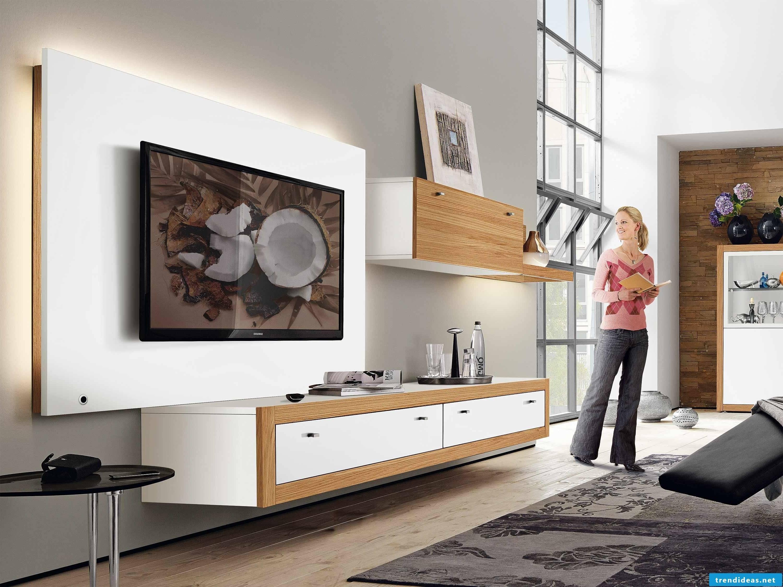 modern hülsta living wall