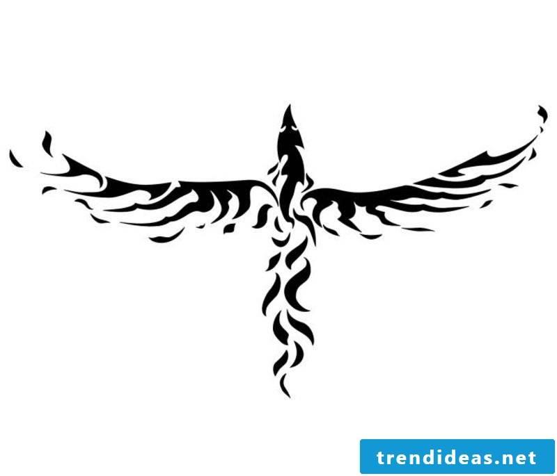 Phoenix stylized tattoo artwork for forearm