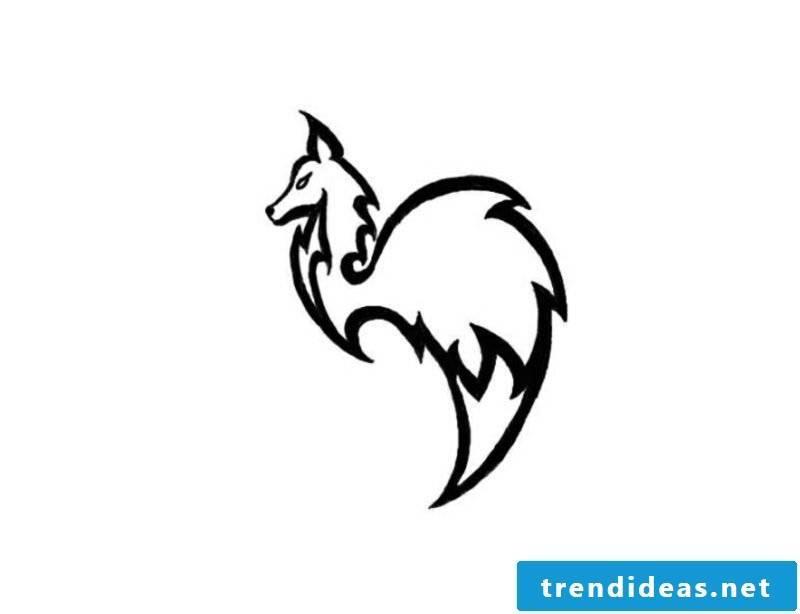 Fox stylized tattoo artwork for forearm