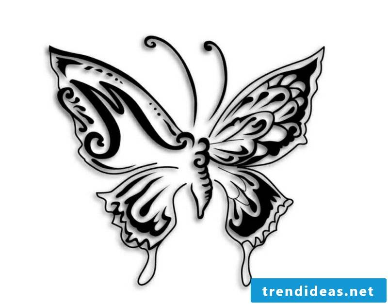 stylized butterfly tattoo artwork for underarm