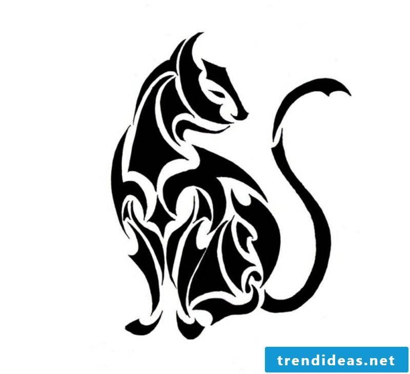 black cat Tattoovorlagen for forearm