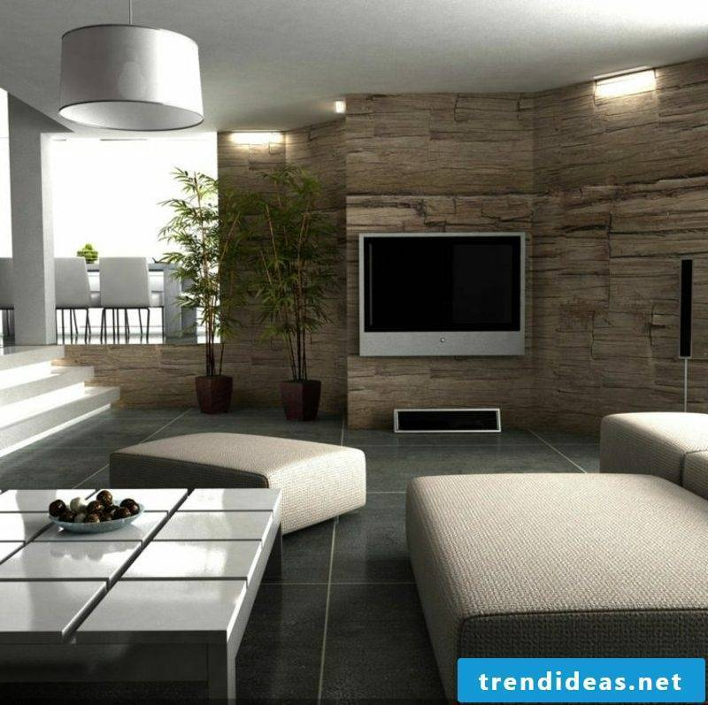 Decorative plaster stone imitation living room