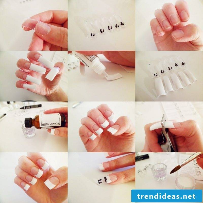Nail modeling pictures: instructions