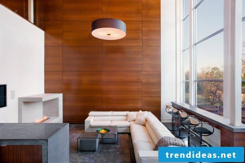 wood-wall tiling-living room-design