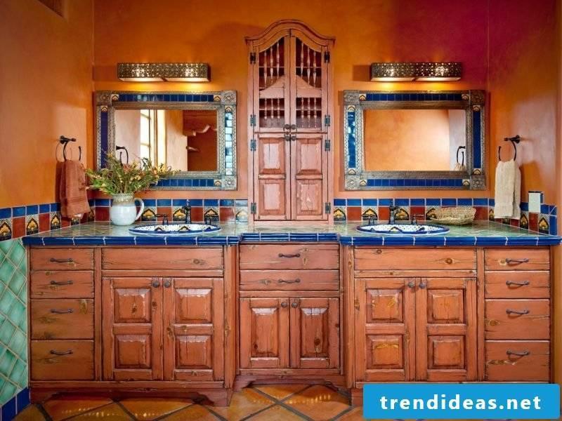 Mexican furniture bathroom