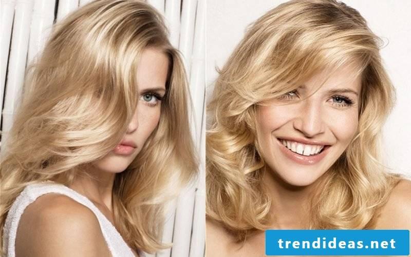 medium-length curly hairstyles wavy