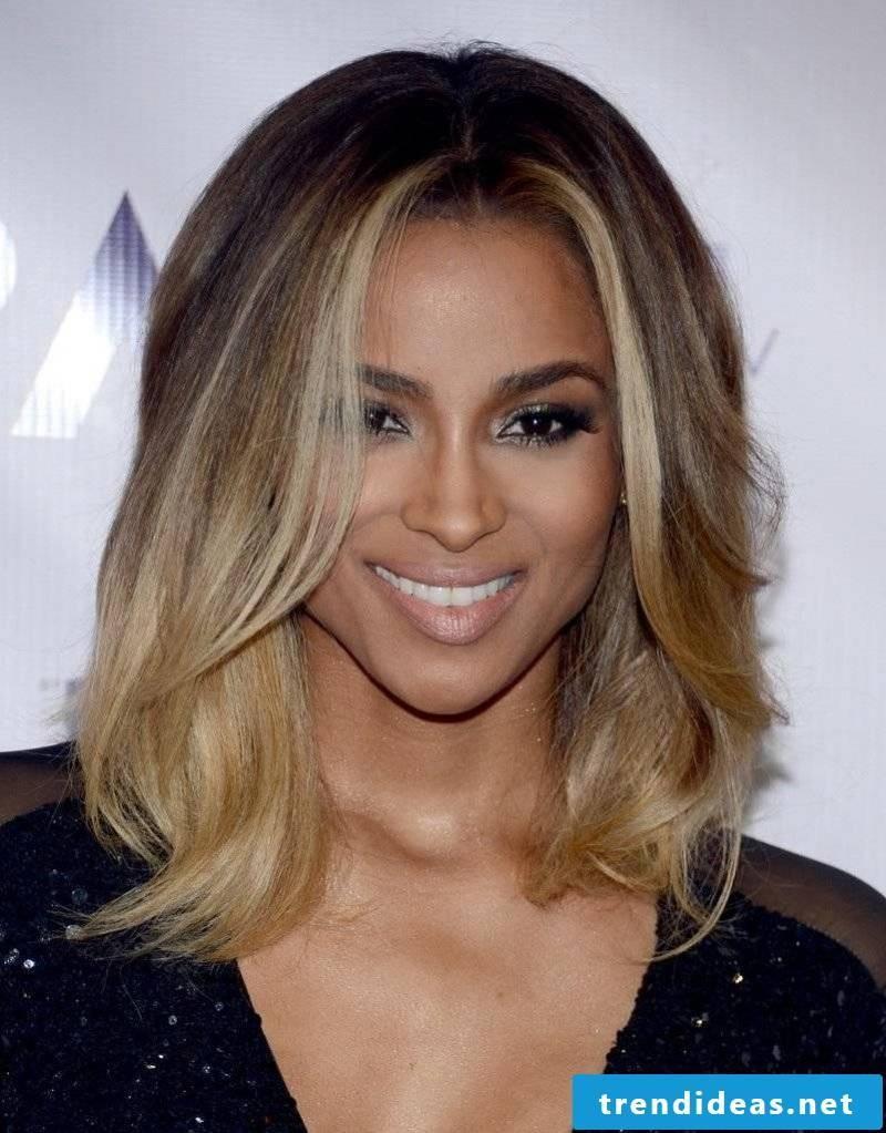 medium-length hairstyles ombre