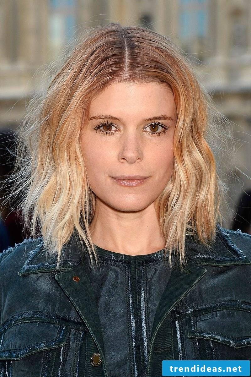 graded medium-length hairstyles oblique