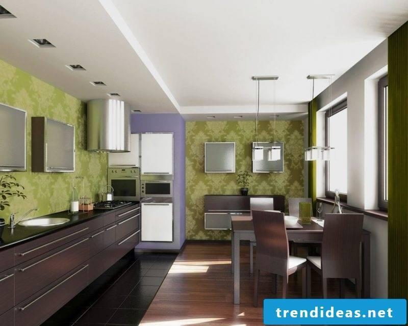 Kitchen wall design stylish