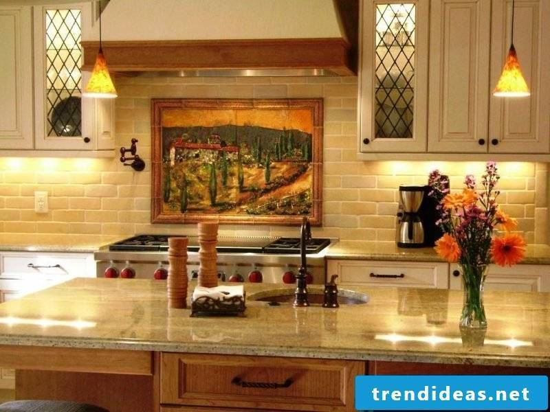 kitchen wall design retro
