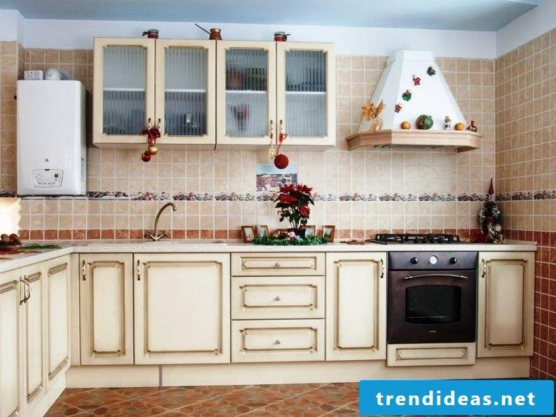 kitchen wall design vintage