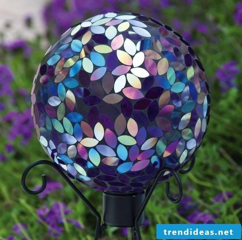 Mosaic decoration garden lamp