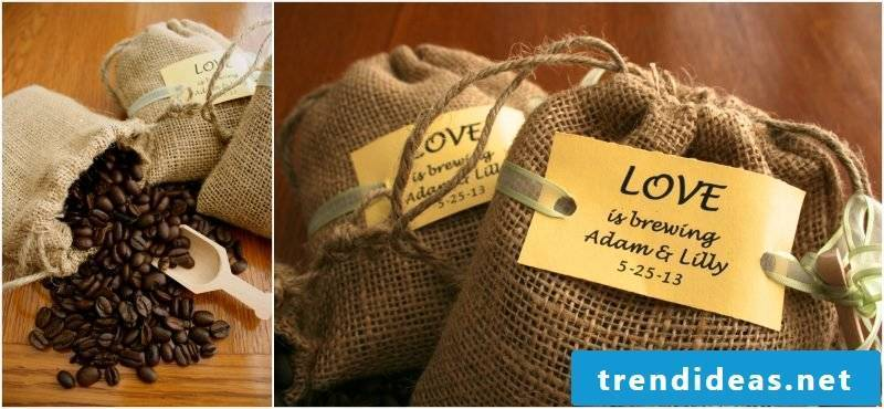 wedding guest gifts coffee bags