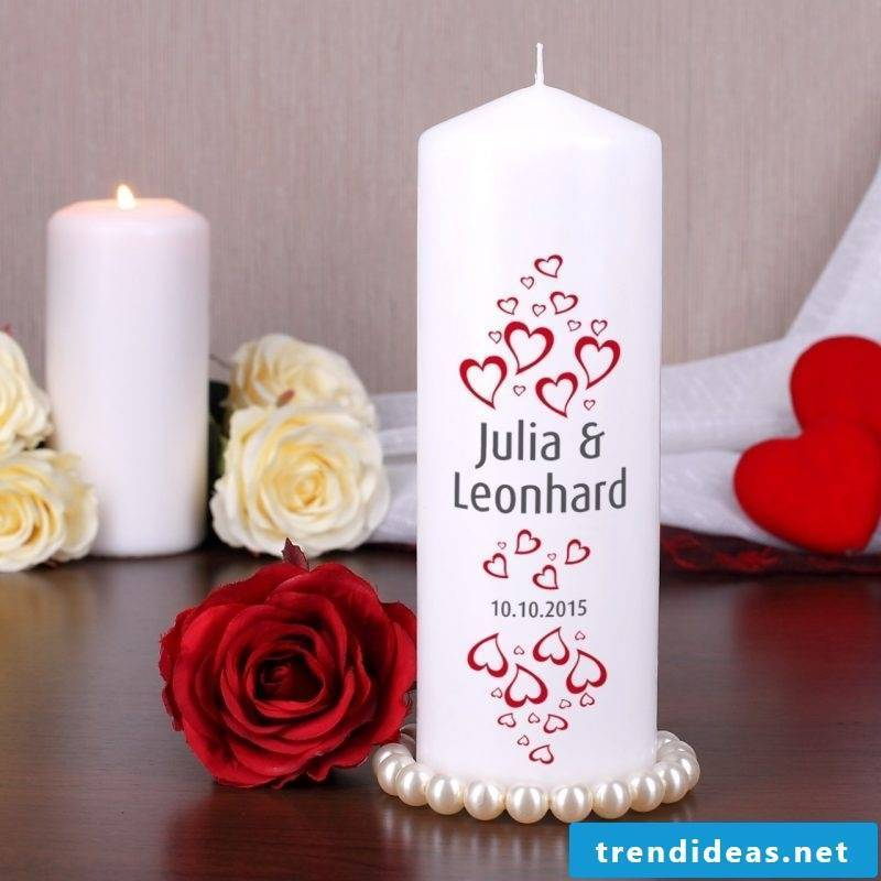 wedding guest candle