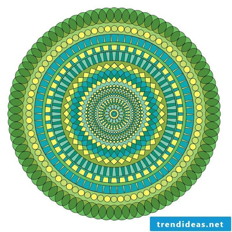 mandala templates green
