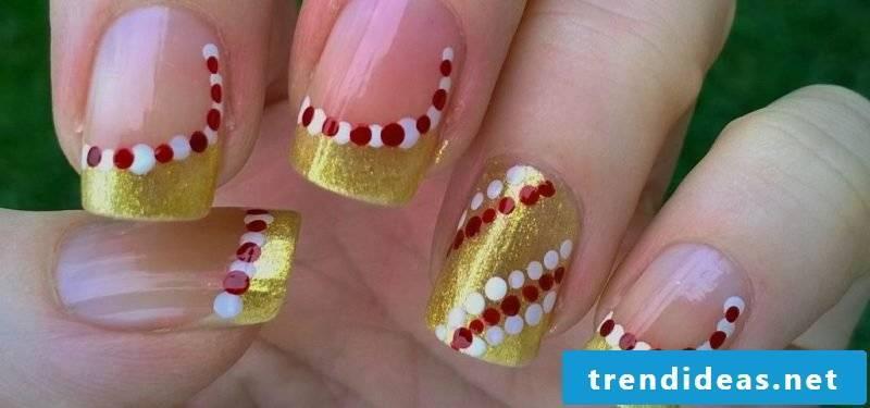 Gel nails pattern Christmas