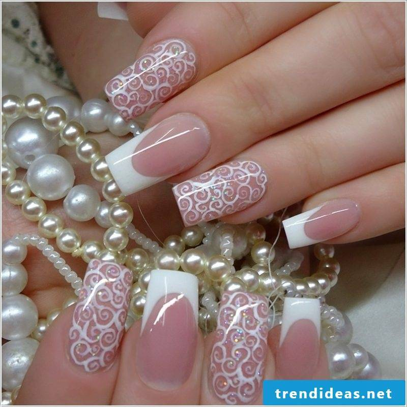 wedding nails interesting