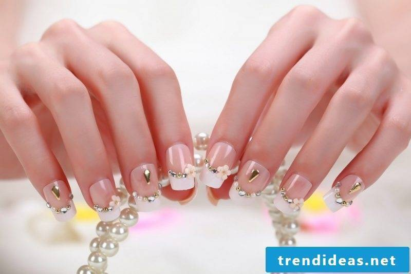 wedding nails elegant