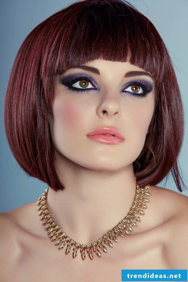 ladies short hairstyles pictures red