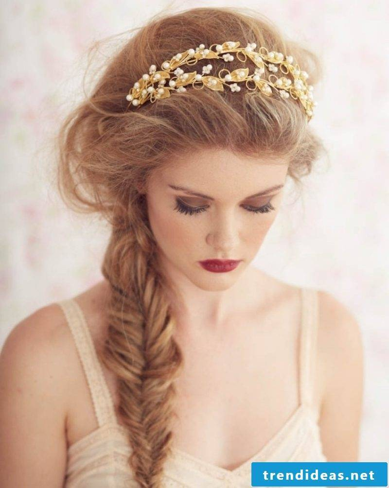 Hairstyles with hairband herringbone head gorgeous look
