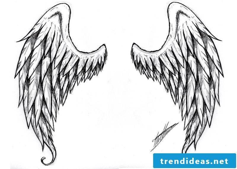 Tattoo templates free wings