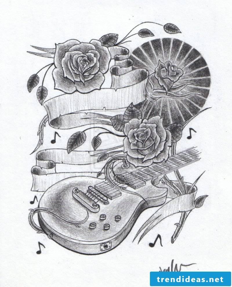 Tattoo templates free roses