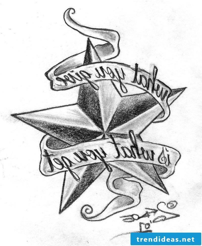 Tattoo templates free Star