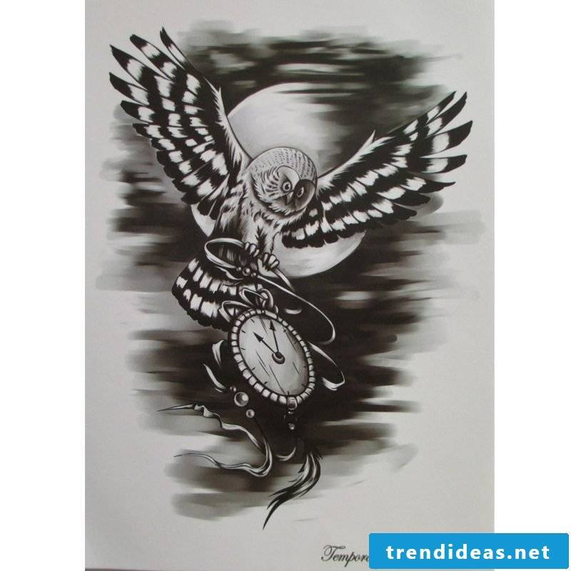 Tattoo Template Free Owl Tattoo Women