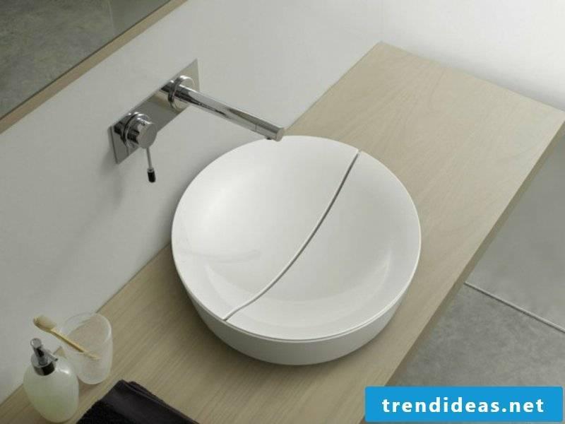 interesting white washbasin