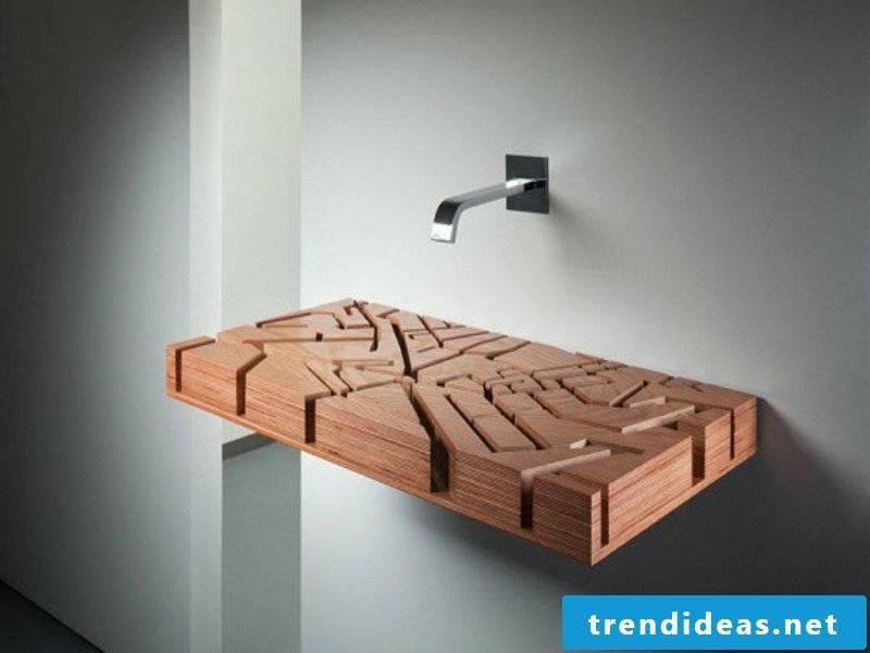 bathroom ideas for modern wooden washbasins