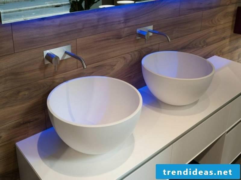 bathroom ideas for round porcelain sinks