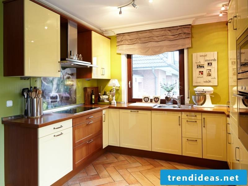 yellow color in the kitchen
