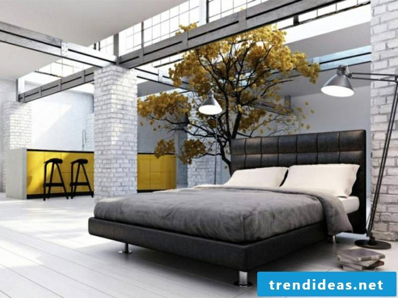 yellow decoration in the bedroom