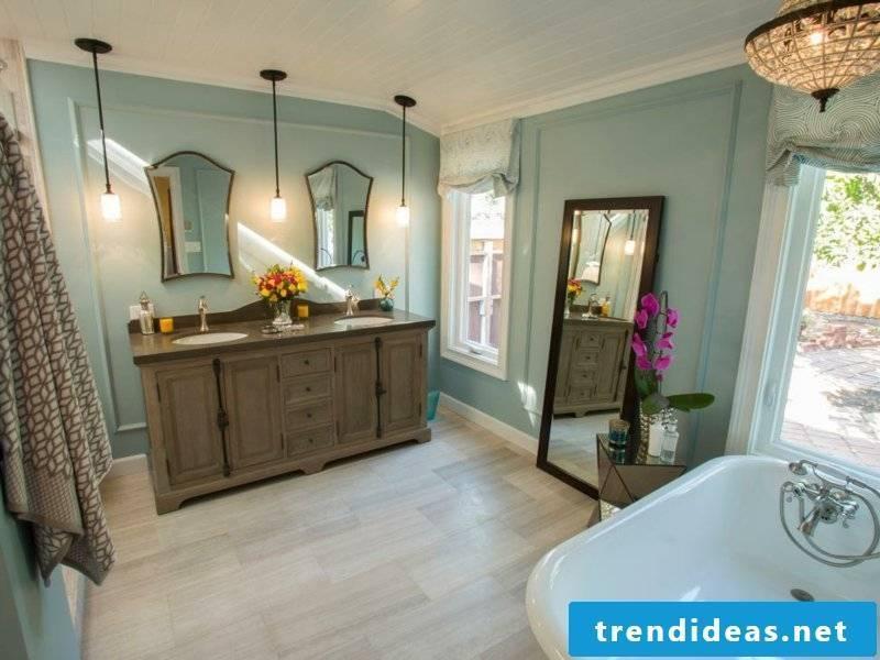 Vintage bathroom in pastel colors