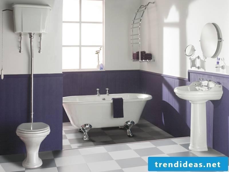 purple vintage bath