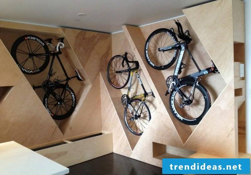 Bicycle mount integrated for wall