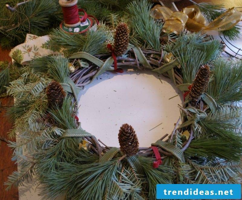 Make Advent wreath yourself - instructions step 5