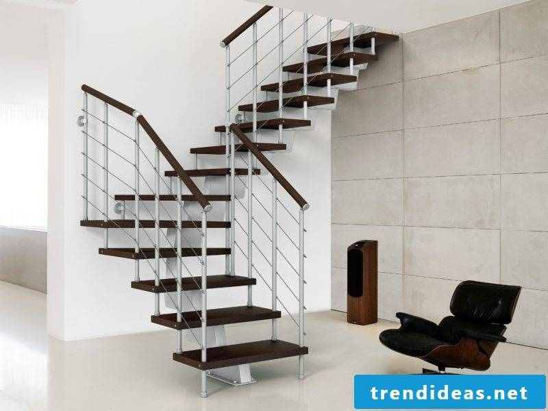 Wooden bolt staircase