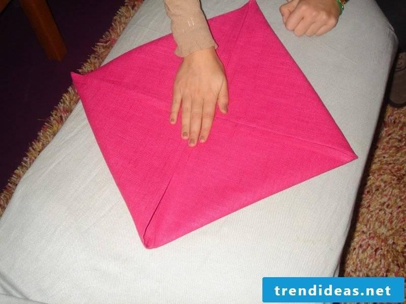 Star napkins fold step 2