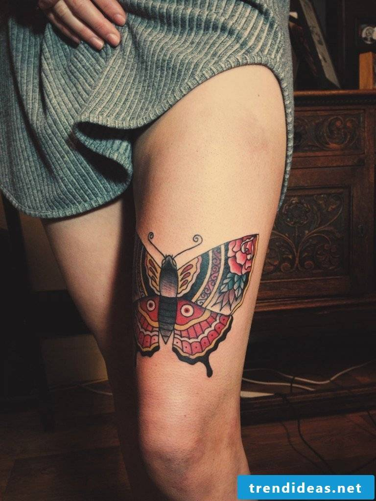 Sexy butterfly tattoo ideas for women