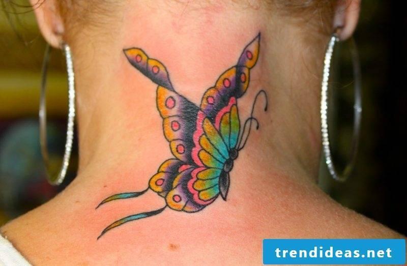 Tattoo butterflies women colored